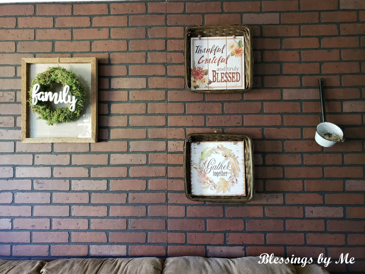 Fall living room wall